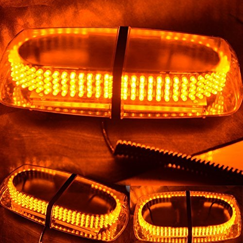 Undercover Led Light Bar (WoneNice Amber Vehicle Car Truck Emergency Hazard Warning 240 LED Mini Bar Strobe Flash Light)