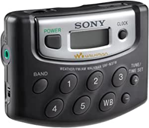 Sony SRF-M37W Walkman Digital Tuning Weather/FM/AM Stereo Radio (Black)
