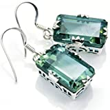 Incredible Sterling Silver Lab Created Color Change Alexandrite Dangle Earrings