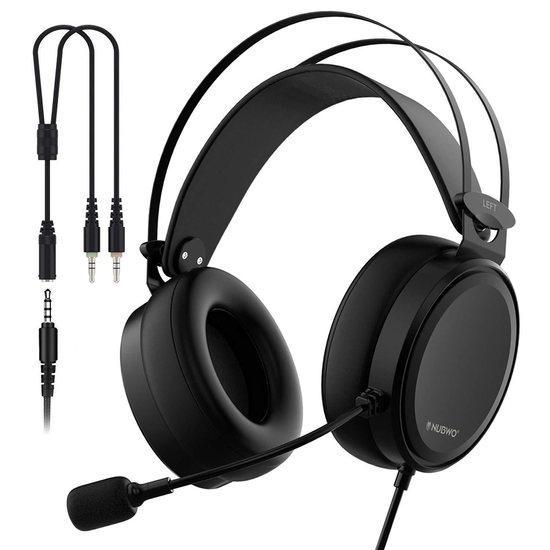 Casque Gaming pour PS4 Xbox One Ecouteur Gamer Stéréo avec Microphone  Filaire Réglable Contrôle du Volume Bandeau Flexible pour PC Ordinateur  Portable ... 29f97d96256c