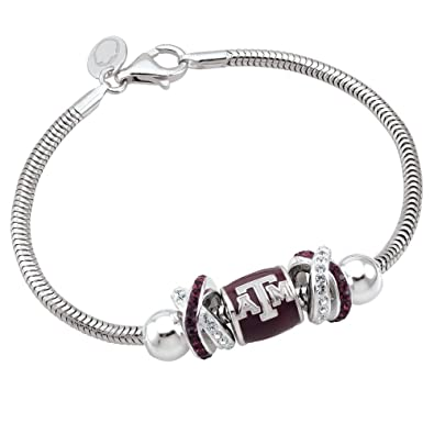 7839c9db2 Amazon.com: Persona Sterling Silver Texas A&M University Beads and ...