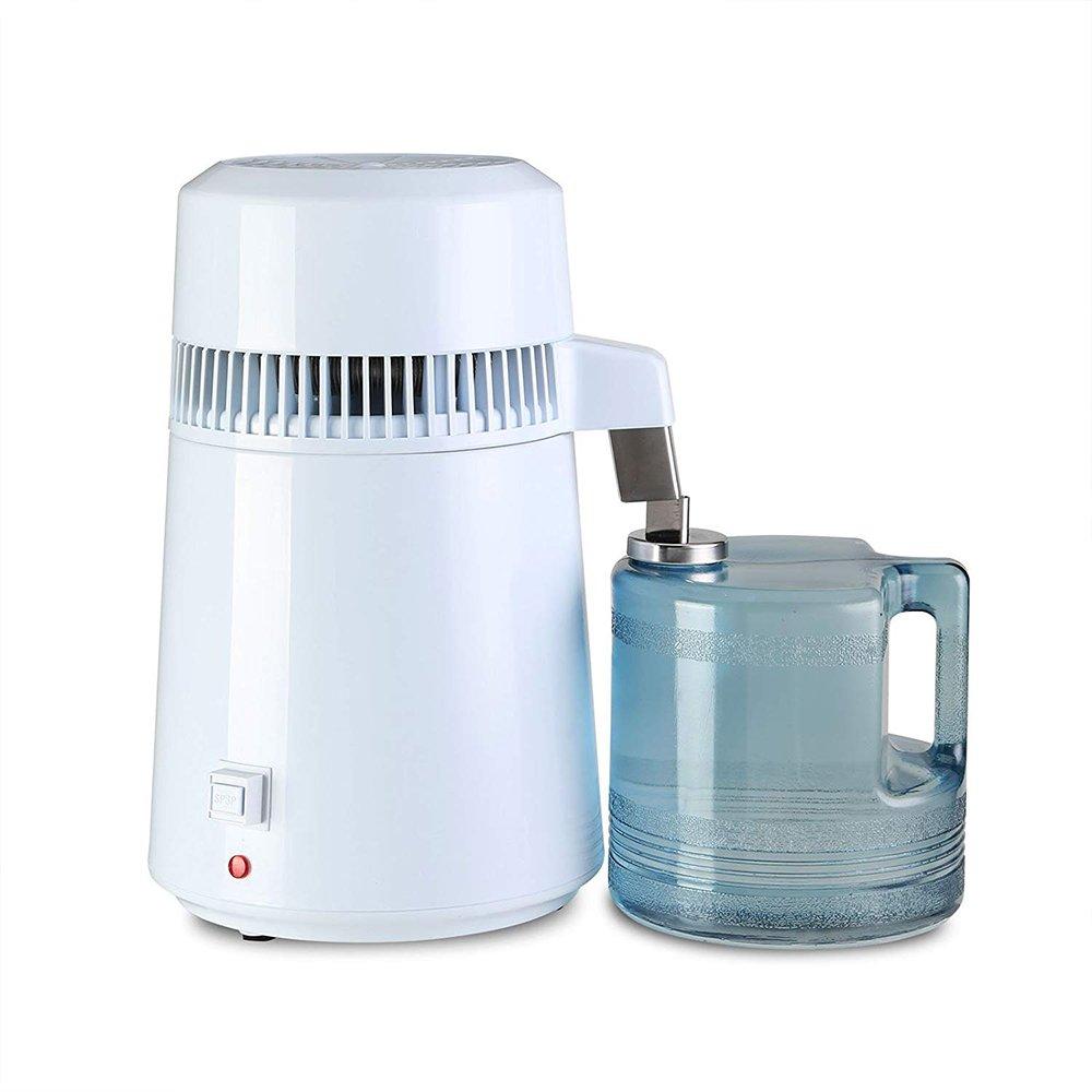Denshine 4L Destilador de Agua, Purificador, Filtros, Destilador de Agua Pura Destilación de Agua de Acero Inoxidable Interno con Botella de Colección: ...