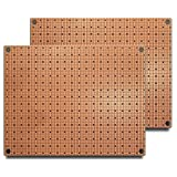 SP1-50x50-G (Two Pack) SMTpads, Size 1, 50x50mil Pads, Unplated Holes to Ground Plane, 2 Sided PCB, Size 1 = 50 x 80mm (1.97 x 3.15in)