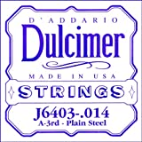 D\'Addario J6403 Plain Steel Dulcimer Single String, .014