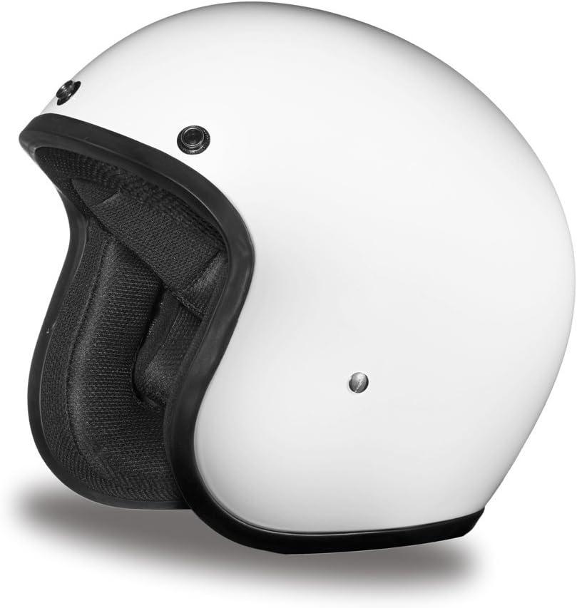 Daytona Helmets Motorcycle Open Face Helmet Cruiser Hi-Gloss White 100/% DOT Approved