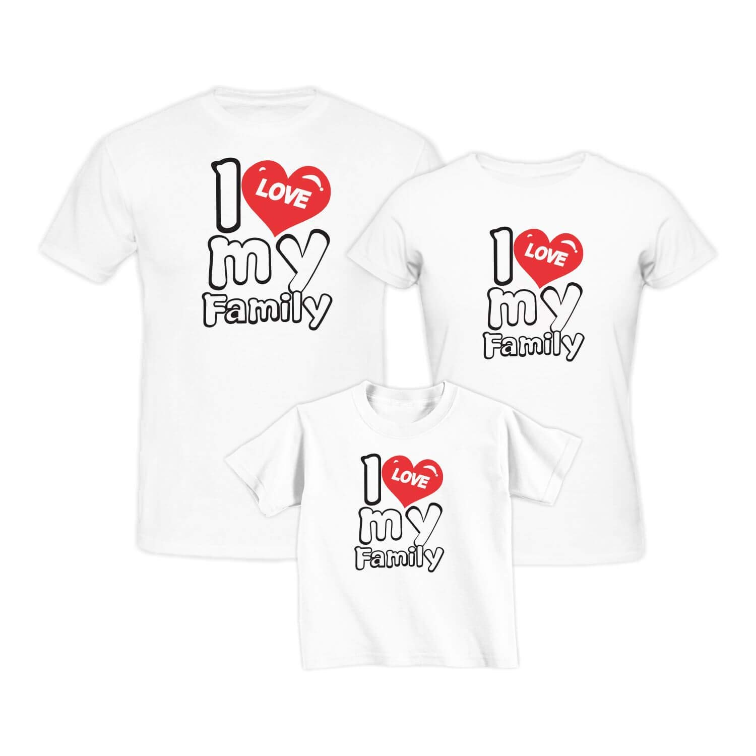I Love My Daughter I Love My Mommy Matching Family T-Shirts