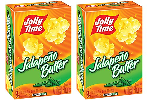 Jalapeno Butter Microwave Popcorn, 6 Bags Count - Hot Pepper Butter