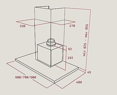 Teka DH 685 807 m³/h De pared Acero inoxidable A - Campana (807 m³/h, Canalizado, A, A, C, 56 dB): Amazon.es: Grandes electrodomésticos