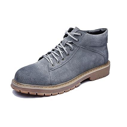 Xiazhi-shoes Zapatos de Hombre con Cordones de Cuero Genuino Botines Martin Botines para Caballeros