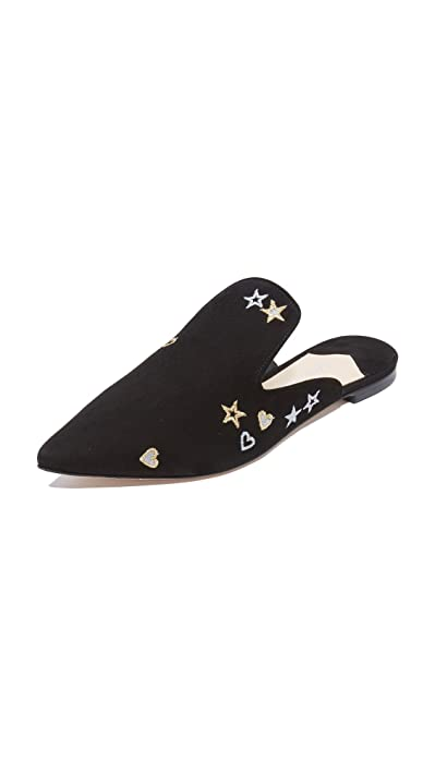 Black Isa Tapia Frankie Embroidered Mules Newest Style