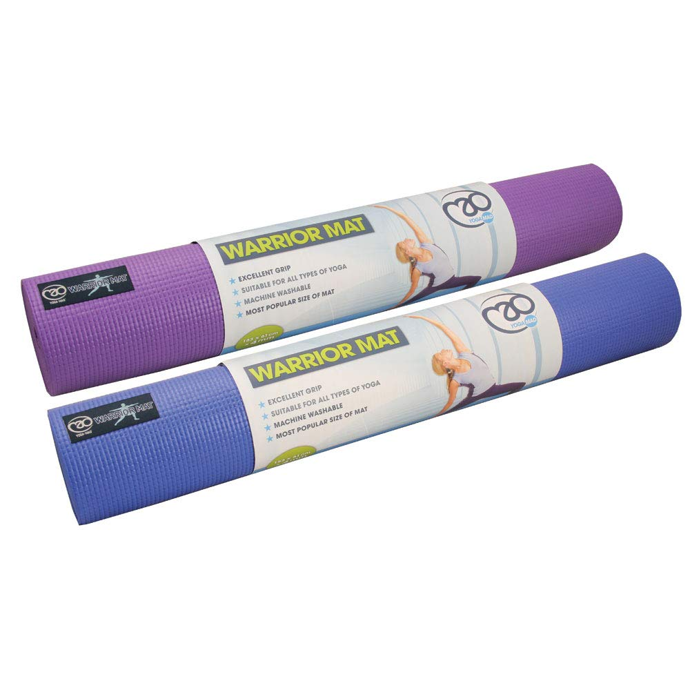 Amazon.com: Fitness Mad Warrior Yoga Mat Purple: Home & Kitchen