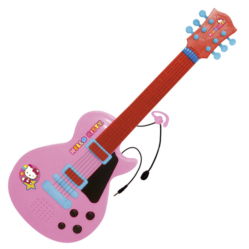 Reig Hello Kitty 6- String Guitar with Earpiece Microphone by Reig