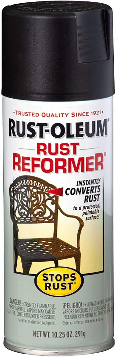 Rust-Oleum 215215 Stops Rust Rust Reformer Rust Reformer 10.25-Ounce Spray-Color Black