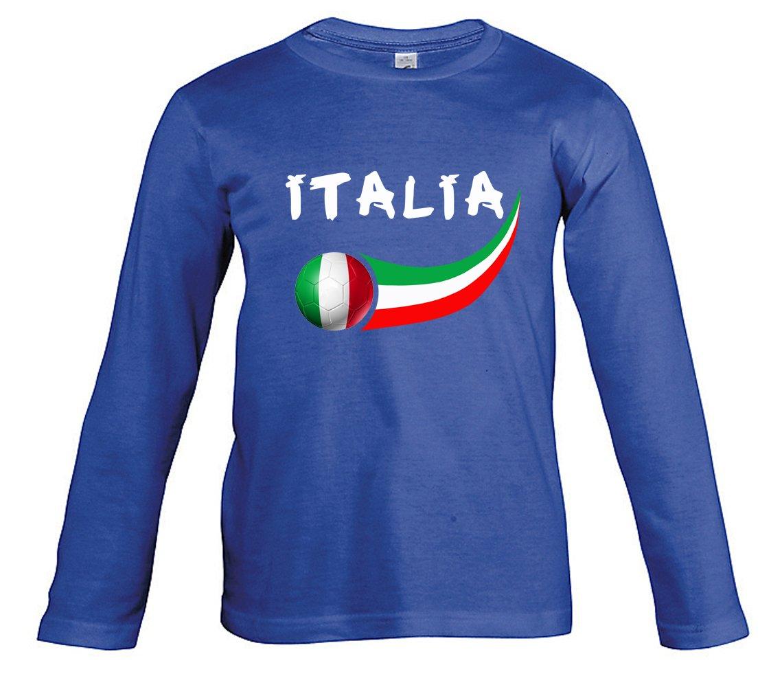 Supportershop Camiseta Fútbol Italia Royal L/S niño: Amazon.es: Deportes y aire libre