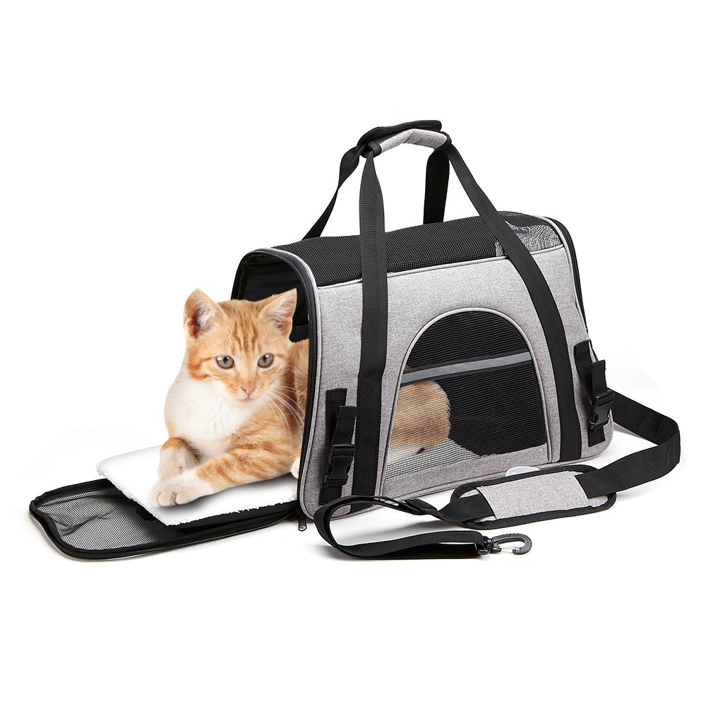 OHICO Cat Carrier Small Airline Approved Soft Sided Pet Travel Light Carrier for Kitten, Puppy, Small Cats, Small Dogs, Small Animals by OHICO (Image #10)