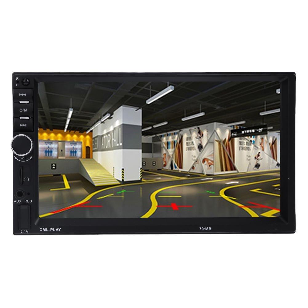JUNERAIN 7 Pulgadas 1080P Reproductor MP5 Pantalla Digital Bluetooth 2din Monitor de Copia de Seguridad del Coche