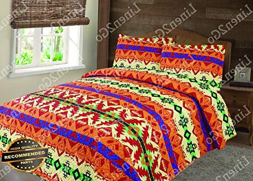 (Werrox 3 Piece Aztec Mesa Quilt Rustic Southwestern Bedspread Comforter Bedding Set! | Full/Queen Size | Quilt Style QLTR-291265436)