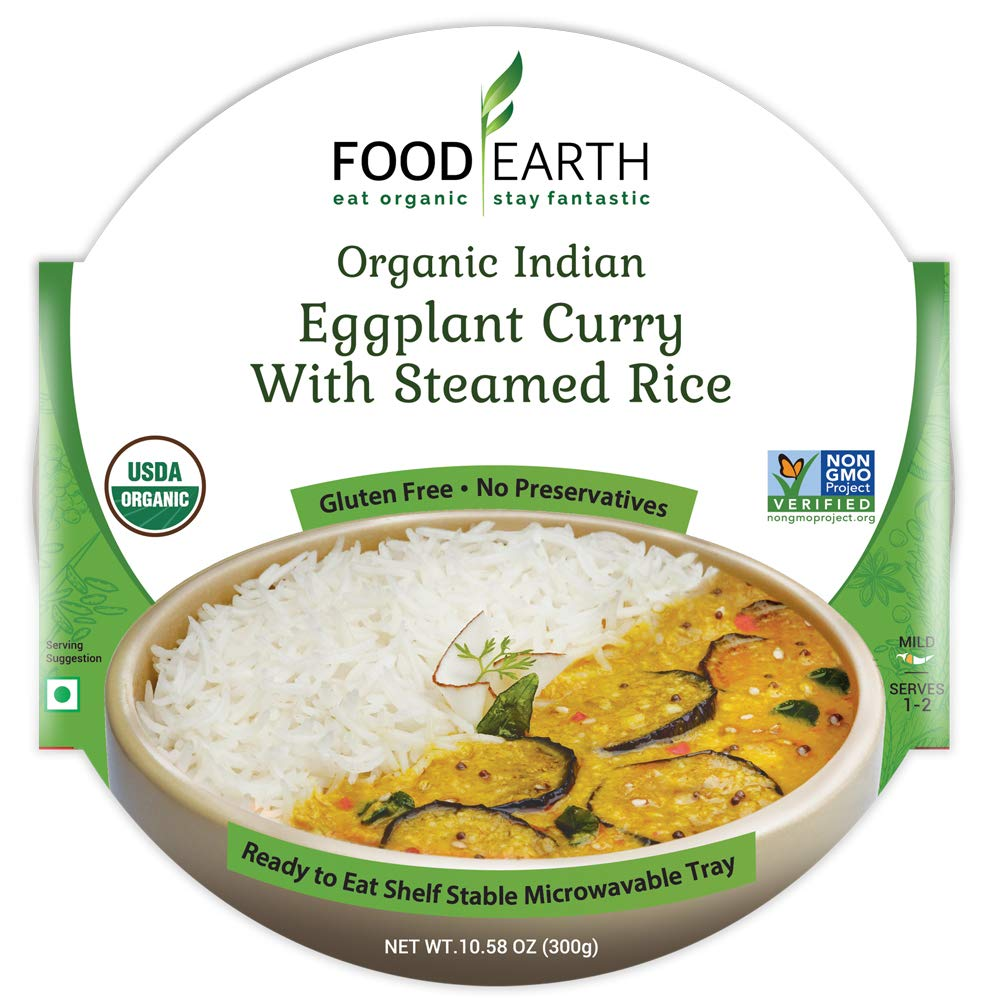 Food Earth Organic Indian Eggplant Curry - 6 Pack