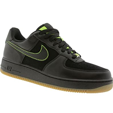Nike Air Force 1 07 Low black black voltage yellow Size 4.5 US