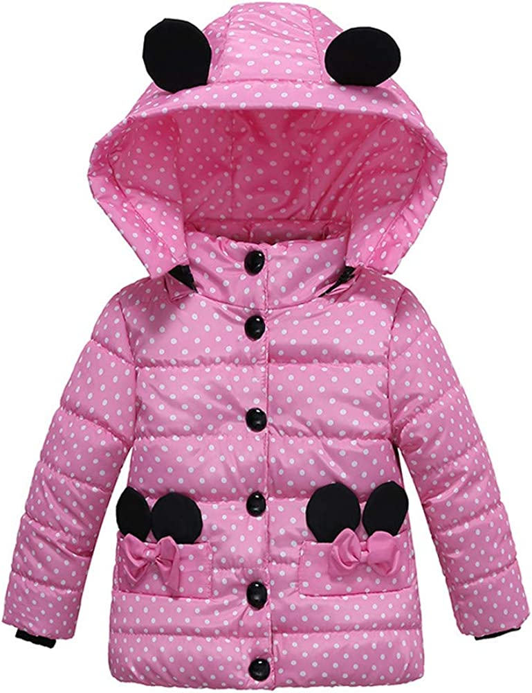 Moonker-Baby Tops Toddler Boy Girl Fleece Jacket Ear Zipper Hooded Coat Kids Autumn Winter Warm Clothes Outwear 1-4 Years