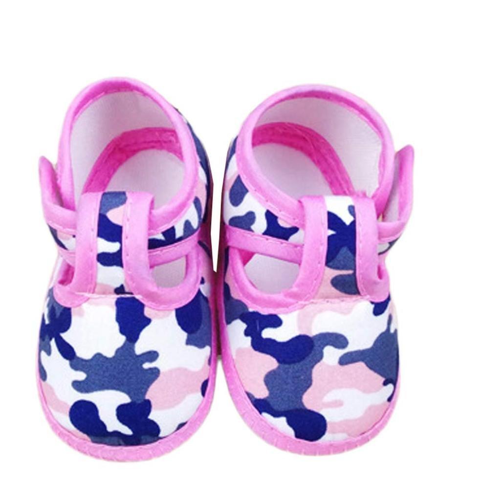 Voberry Newborn Baby Camouflage Soft Sole Anti-Slip Prewalker Toddler Sneaker Shoes