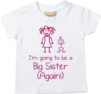 I/'m Going To Be a Big Sister Pink Tshirt Baby Toddler Kids Available in Sizes 0