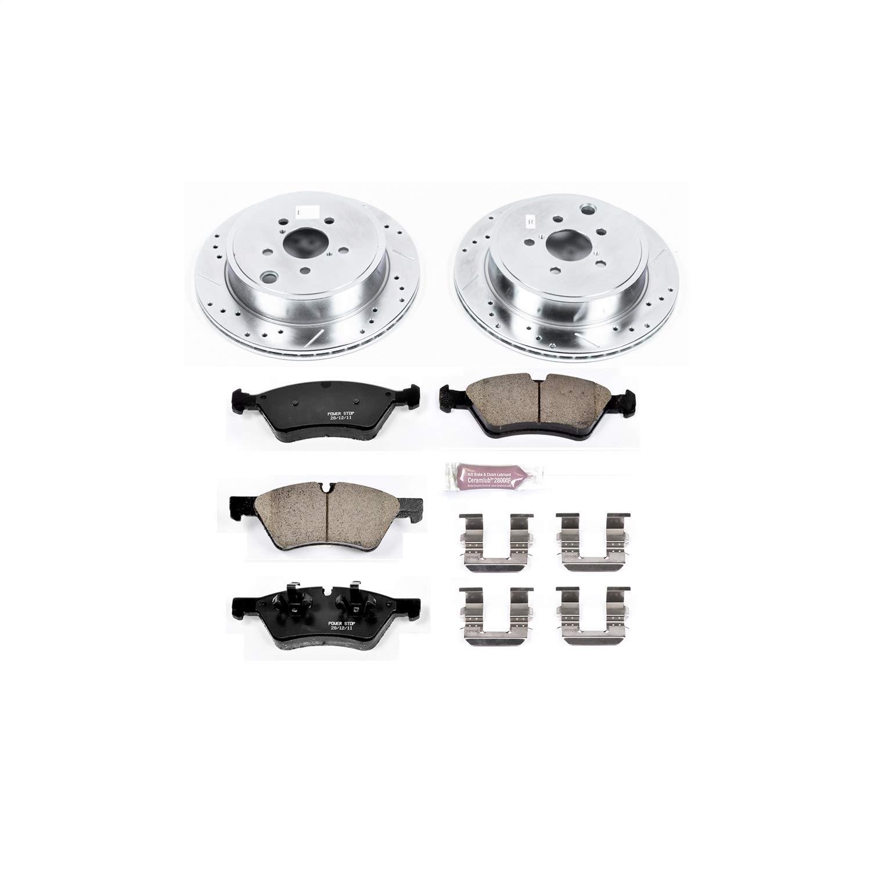 Power Stop K5883 Rear Brake Kit with Drilled/Slotted Brake Rotors and Z23 Evolution Ceramic Brake Pads