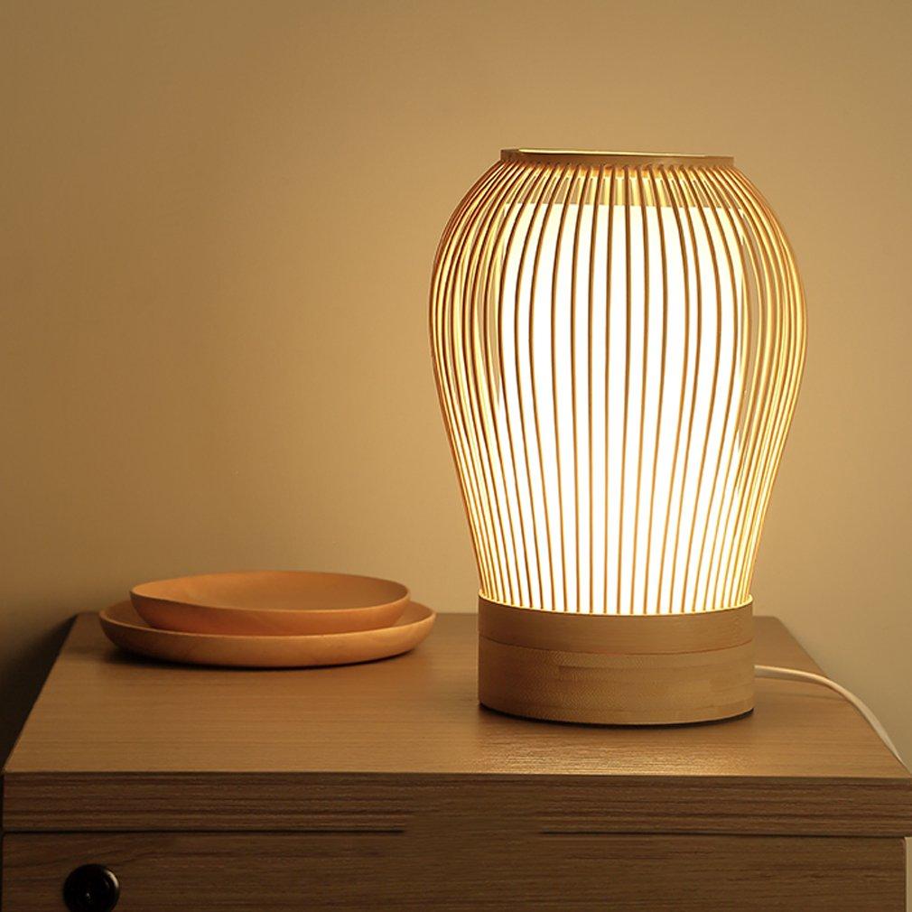 GUO - einfache Nachttischlampe im japanischen Stil Chinesische Zen Wohnzimmer Lampe Bambus Schreibtischlampe Schreibtischlampe