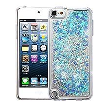 iPod Touch 5th Gen/6th Gen Case, Mybat Quicksand Glitter PC/TPU Rubber Case Cover For Apple iPod Touch 5th Gen/6th Gen, Blue