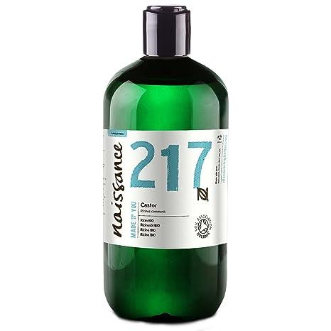 Naissance Aceite de Ricino BIO 500ml - Puro, natural, certificado ecológico, prensado en