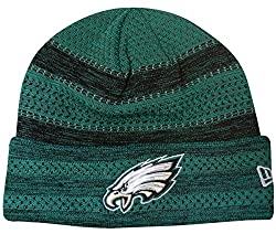 "Philadelphia Eagles New Era 2017 Nfl Sideline ""Cold Weather Td"" Knit Hat - Green"