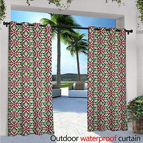 Nature Outdoor- Free Standing Outdoor Privacy Curtain W84