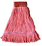 O'Cedar Commercial 97593 MaxiClean Shrinkless Loop-End Mop, Large, Orange (Pack of 12)