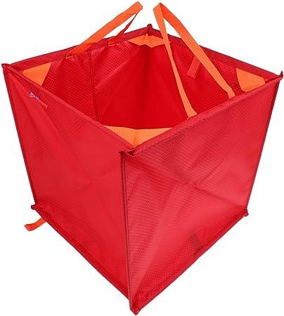 MagiDeal Caja Cubo de Almacenaje para Ropa Cuerdas de Escalada Bolsa Plegable Color Rojo