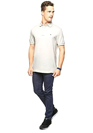 934a4f97 Image Unavailable. Image not available for. Color: Tommy Hilfiger Men's  Custom -Fit Ivy Silver Birch Polo XXL