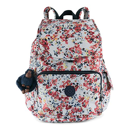 Purple Deep Kipling Blossoms Solid City Busy Backpack Medium Pack wqvXvTpxYR
