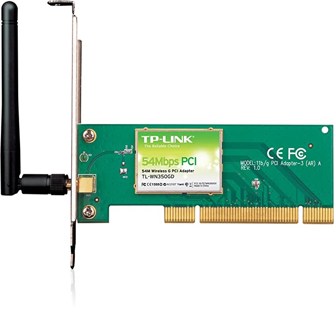 Amazon. Com: tp-link tl-wn350gd 54mbps wireless g pci adapter.