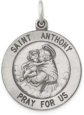 silver plated Patrick medallion 30mm 1 St