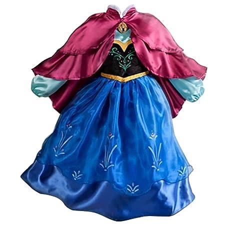 MissFox Princesas Frozen Disfraz Princesa Anna Para Niña 130CM ...
