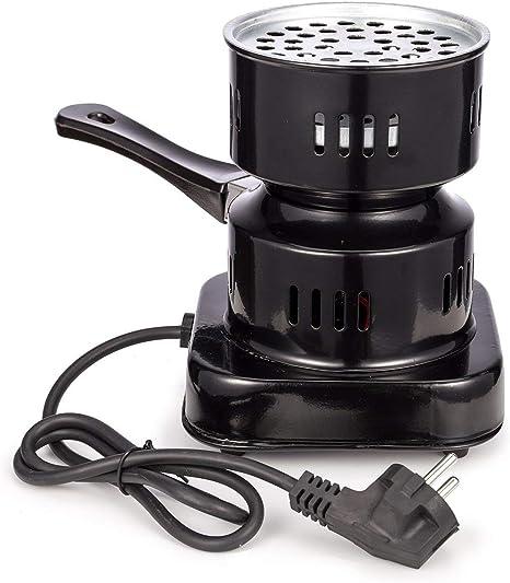 TOSHIN Hornillo eléctrico, Encendedor de Carbón Eléctrica Shisha Carbón Quemador de Calor hasta 600W Quemador de Placa Caliente con Revestimiento de ...