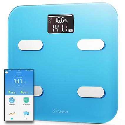 Yunmai Color Báscula Inteligente - Peso & BMI y análisis de cuerpo + músculo y hueso