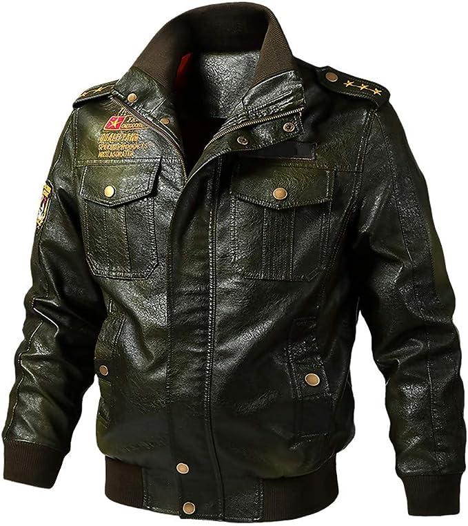 Uomo Slim Fit Felpa Con Cappuccio Giacca Da Moto Biker PU pelle cappotto con cappuccio e cerniera Outwear