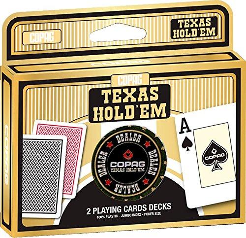Copag Texas Double Deck Poker Card Set with Dealer Button
