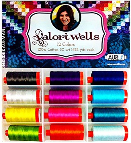 Aurifil Thread Set Valori Wells Thread 50wt Cotton 12 Large (1422 yard) Spools by Aurifil