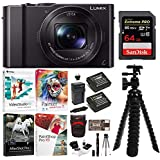 Panasonic LUMIX LX10 20.1MP Leica DC Optical Zoom Digital Camera with 64GB Memory Card and Accessory Bundle