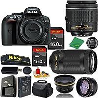 Great Value Bundle for D5300 DSLR – 18-55mm AF-P + 70-300mm AF-P + 2PCS 16GB Memory + Wide Angle + Telephoto Lens + Case