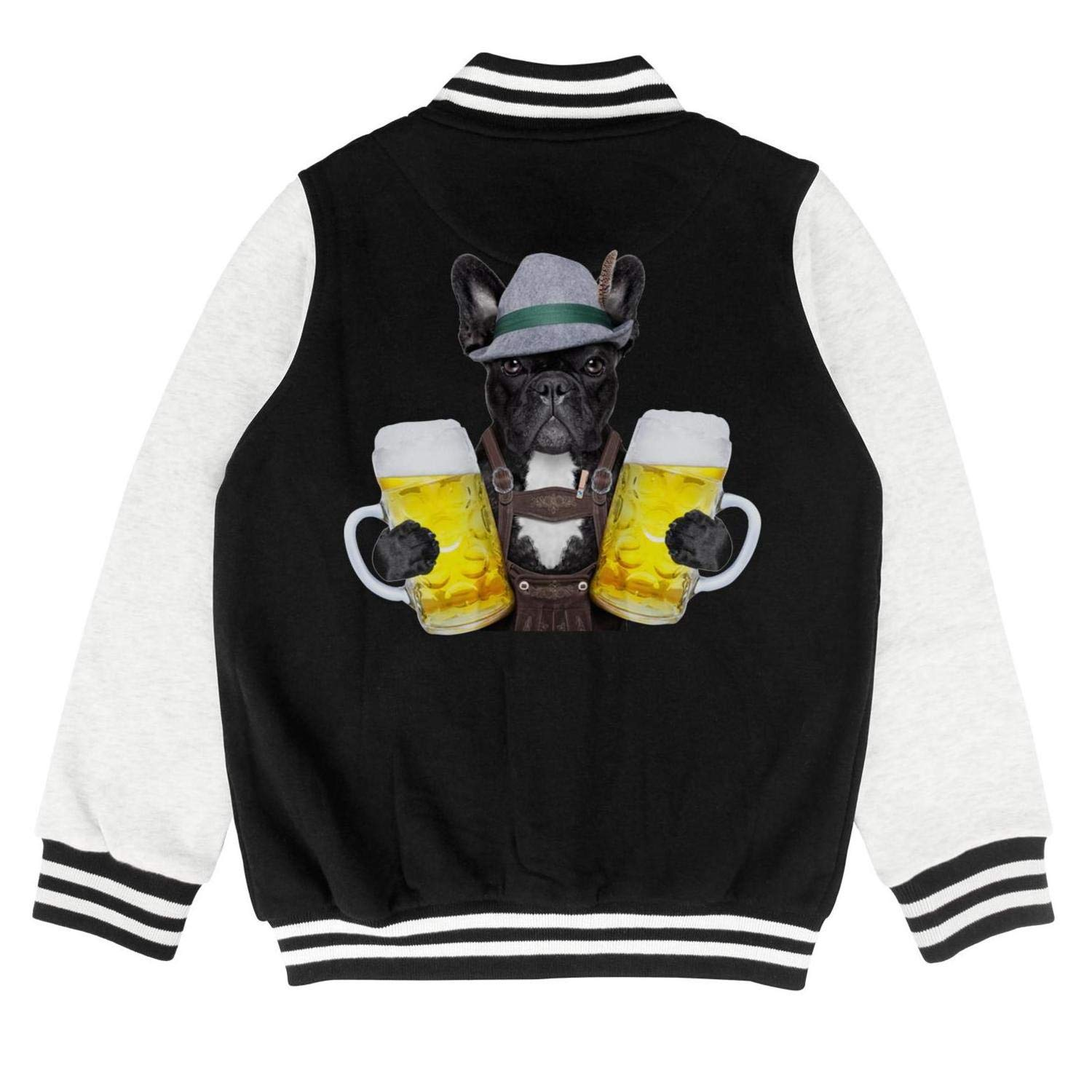 PoPBelle Kids Chihuahua Dog Beer Celebrate The Birthday Teen Boys Track Jacket for Girls Boys Funny Soft Coats