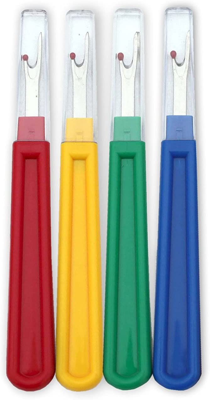 Senmubery 4pcs Best large seam ripper durable Perfect sewing supplies for opening seams and hems