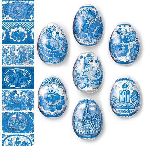 Pysanky Eggs - Egg Wraps - Easter Eggs - Heat Shrink Sleeve - ()