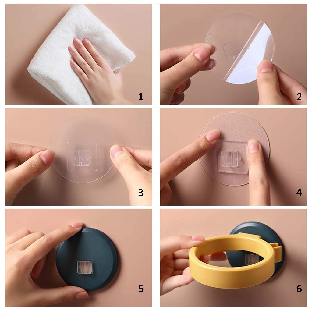 Soporte para secador de pelo adhesivo de pared estante de ducha para colgar Wie gezeigt blanco Hothap